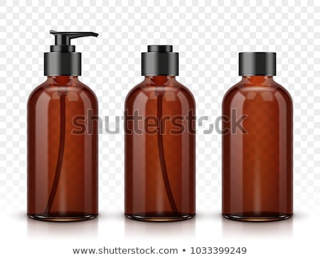 marrom · plástico · garrafa · isolado · branco · cerveja - foto stock © devon