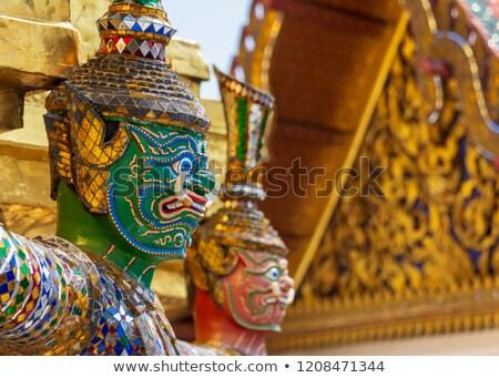 Bekçi iblis kraliyet saray Tayland altın Stok fotoğraf © teusrenes