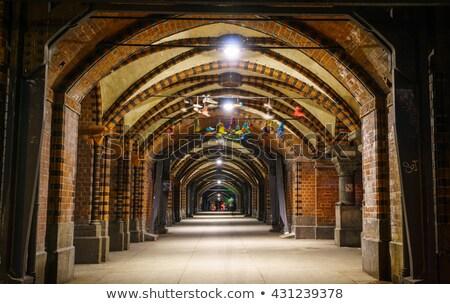 Tünel Berlin karanlık 1 kişi soyut vücut Stok fotoğraf © teusrenes