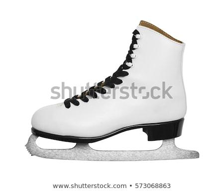 льда · Skate · белый · фон · команда · хоккей - Сток-фото © fonzie26