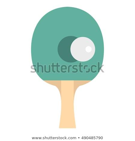 настольный · теннис · Bat · белый · фитнес · фон · спортивных - Сток-фото © fonzie26