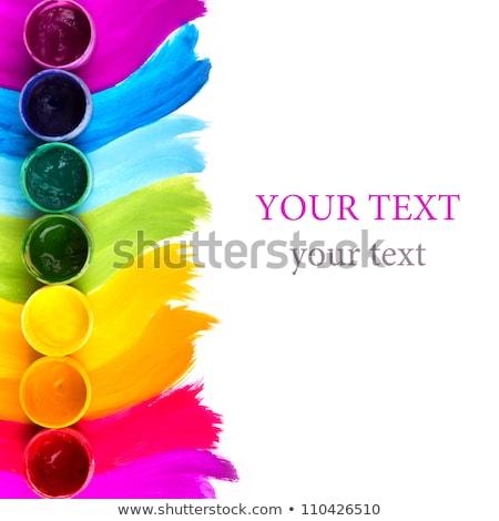 множественный краской работу дизайна кадр искусства Сток-фото © fonzie26