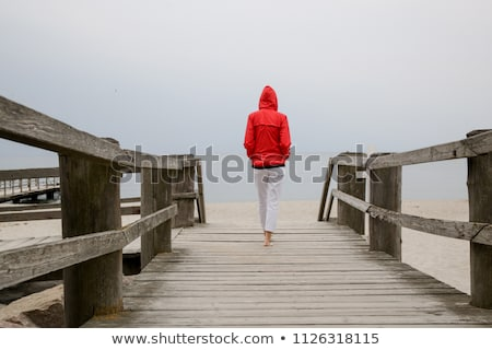 woman walking at beach Stock photo © zastavkin