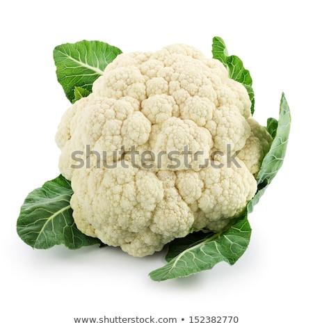 цветная · капуста · белый · продовольствие · фон · зеленый · листьев - Сток-фото © fonzie26