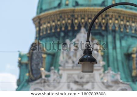 подробность · Top · Blue · Sky · здании · стены · домой - Сток-фото © fonzie26
