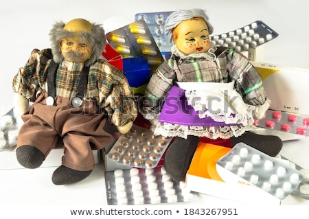 Elderly woman with various medications Stock photo © photography33