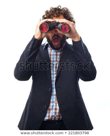 crazy men with binocular stock photo © massonforstock