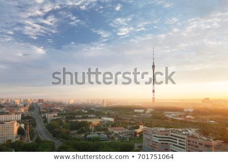 産業 · 塔 · 早朝 · 精製所 · 美しい · 光 - ストックフォト © emiddelkoop