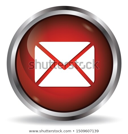 email envelope   red button stock photo © iqoncept