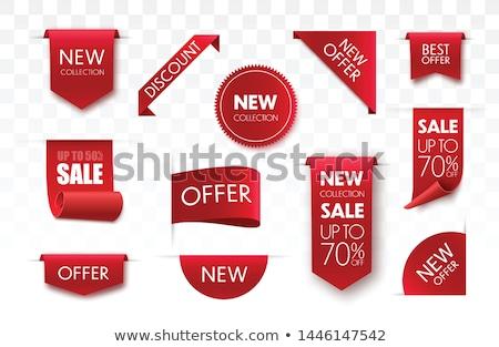 Verkoop stickers geïsoleerd witte papier Stockfoto © barbaliss