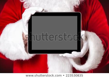 touchpad · portret · kerstman · naar - stockfoto © kurhan