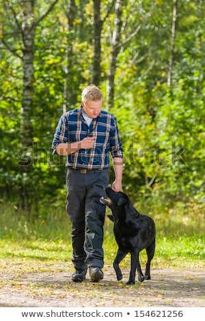 Zdjęcia stock: Hunter With His Dog