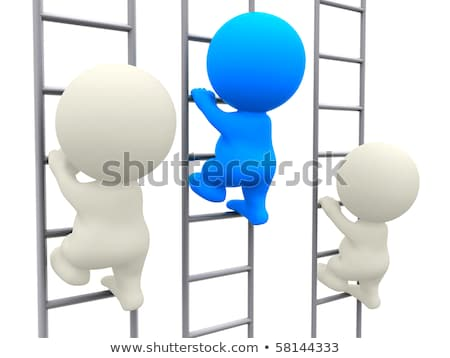 3D people climbing using a ladder Stock photo © dacasdo