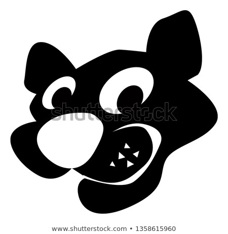 graphic vector image of a happy cute cougar mascot stock photo © chromaco