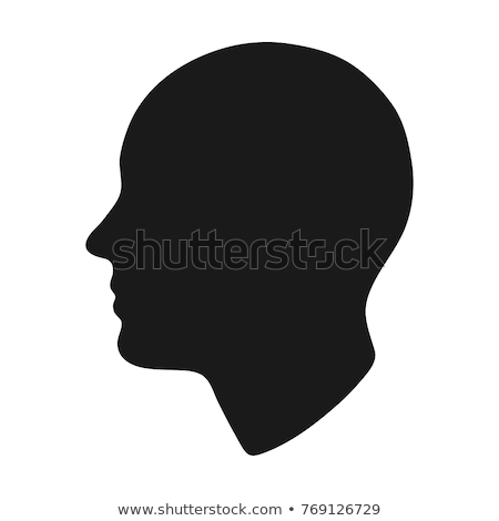 Homme tête silhouette isolé solide Photo stock © RandallReedPhoto
