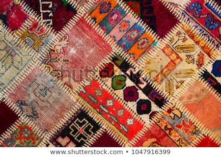 türk · halı · arka · plan · sanat · kırmızı · Asya - stok fotoğraf © hypnocreative