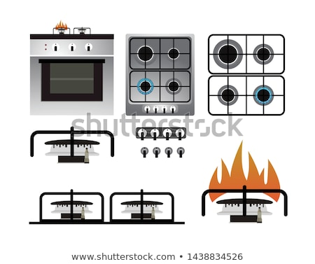 Stock photo: gas burner from a stove