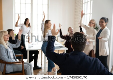 Woman participating in a seminar Stock photo © photography33