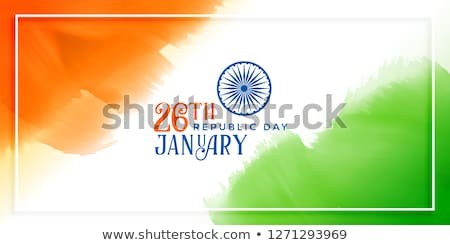 abstract republic day flag stock photo © pathakdesigner