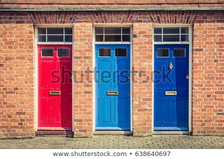 piros · háttér · építkezés · fal · absztrakt · kő - stock fotó © latent