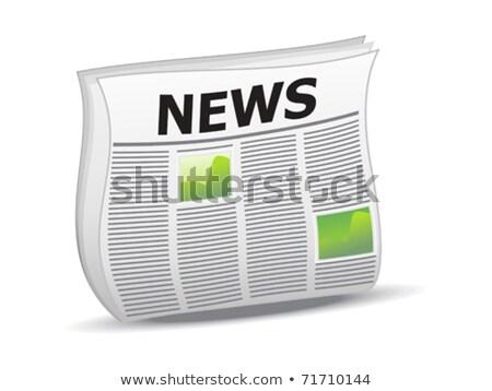 absztrakt · fényes · hírek · ikon · papír · újság - stock fotó © pathakdesigner