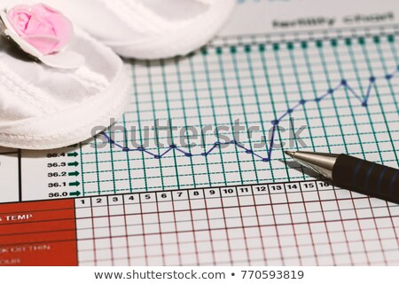 Thermometer, graphs and fertility chart Stock photo © simpson33