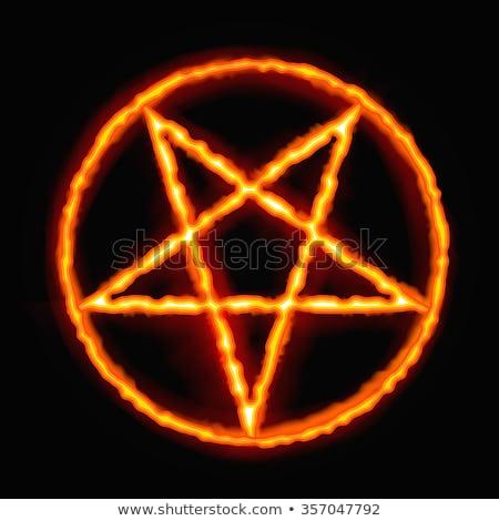 Sátáni tűz háttér félelem gonosz düh Stock fotó © carodi