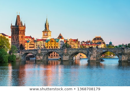 Prague · château · panorama · nuit · ville - photo stock © ionia