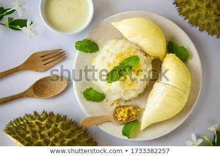 durian sticky rice stock photo © witthaya