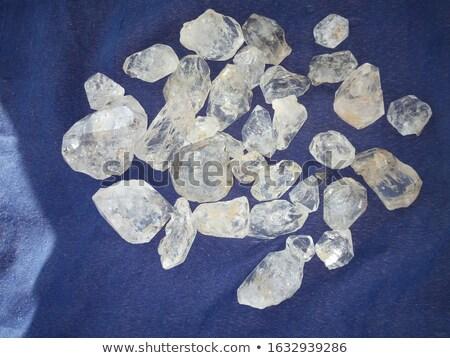 Quartzo rocha preto cor jóia Foto stock © antonprado