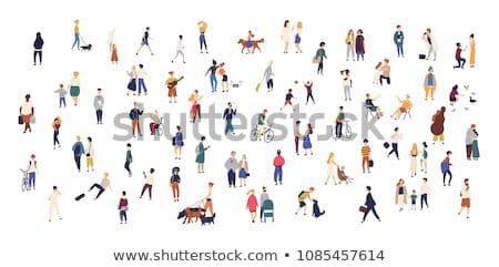 the running people vector illustration stock photo © leonido