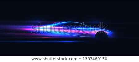 Illustration abstract car silhouette design on purple background