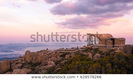 Tazmanya Wellington üst su şehir manzara Stok fotoğraf © 3523studio