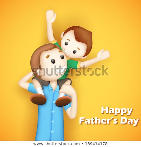3d Father And Son In Vector Stockfoto © Vectomart