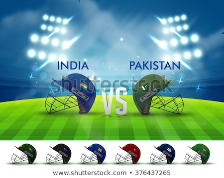 India Pakisztán illusztráció zászló integet üzlet Stock fotó © vectomart