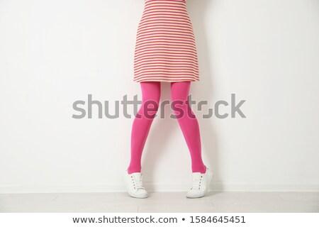 Stok fotoğraf: Uzun · kadın · bacaklar · pembe · kız · vücut