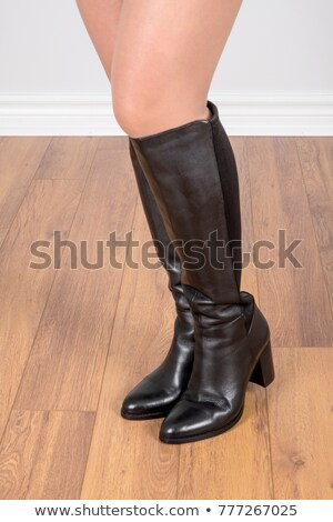 white leather boots and panties Stock photo © dolgachov