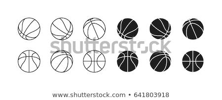 basketbol · resim · yazı · minimalist - stok fotoğraf © zooco