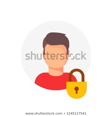 Zárolt felhasználó üzlet férfi öltöny munkás Stock fotó © carbouval