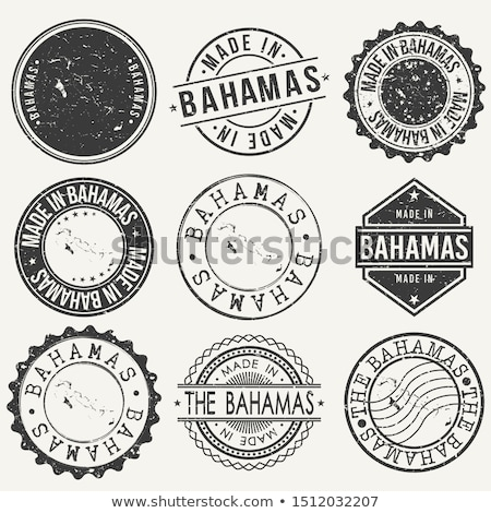 vector label Made in Bahamas Stock photo © perysty