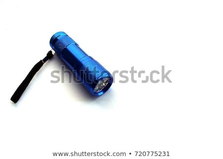 Azul tocha branco mão luz segurança Foto stock © kawing921