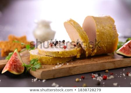 canape, foie gras and gingerbread Stock photo © M-studio