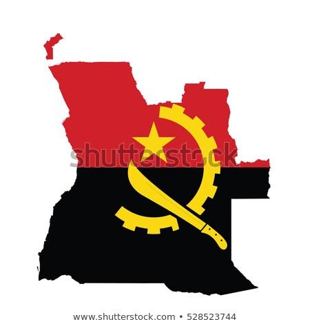 флаг Ангола кирпичная стена окрашенный Гранж здании Сток-фото © creisinger