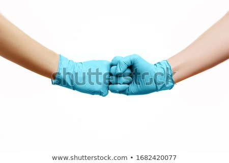 Help Sign In Fist On White Stock photo © feverpitch