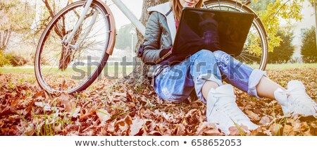 Teenagers working outside Stock photo © photography33