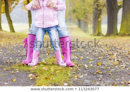 Stok fotoğraf: Küçük · kız · sonbahar · geçit · kız