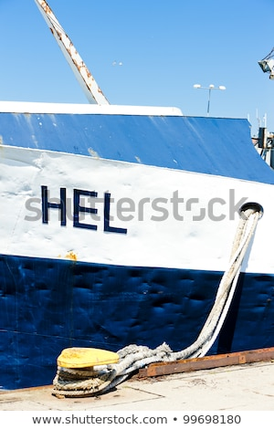 moored ship, Hel, Pomerania, Poland Stock photo © phbcz