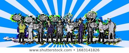 3D soyut duvar yazısı biçim çoklu parlak Stok fotoğraf © Melvin07