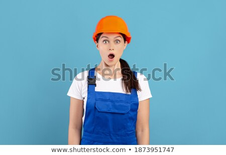 Shocked female builder Stock photo © photography33