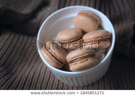 kahve · çikolata · arka · plan · kek · sarı · şeker - stok fotoğraf © m-studio